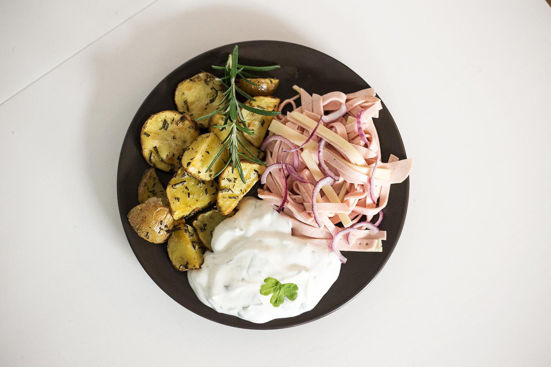 Badisches Trio Wurstsalat Bratkartoffeln Vegetarisch