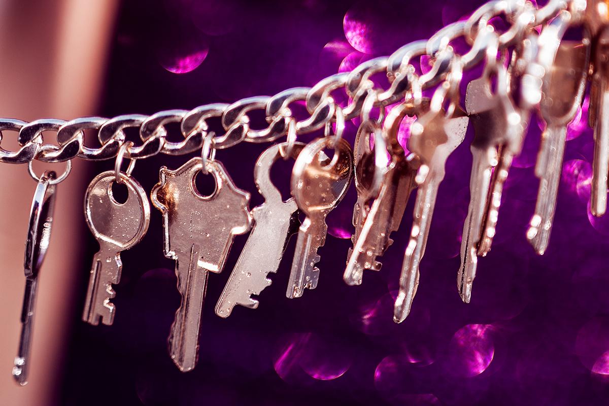 Kette mit Schlüssel