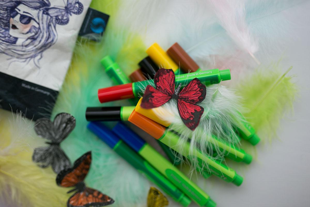 Bunte Schmetterlinge DIY