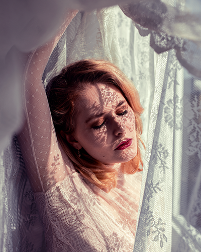 Schatten Portrait Christina Key Selfie