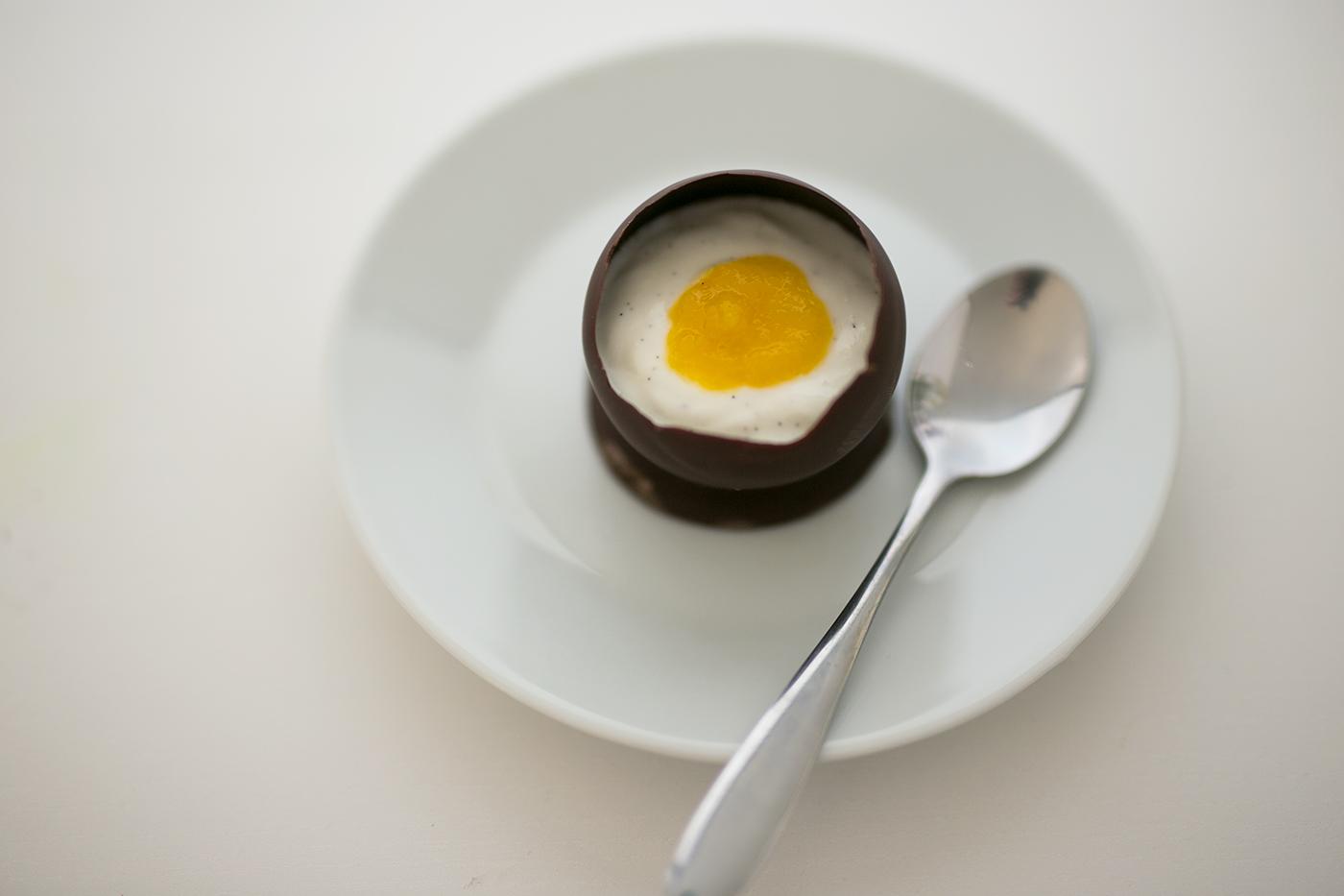 Oster Rezept: Schoko Ei mit Mango