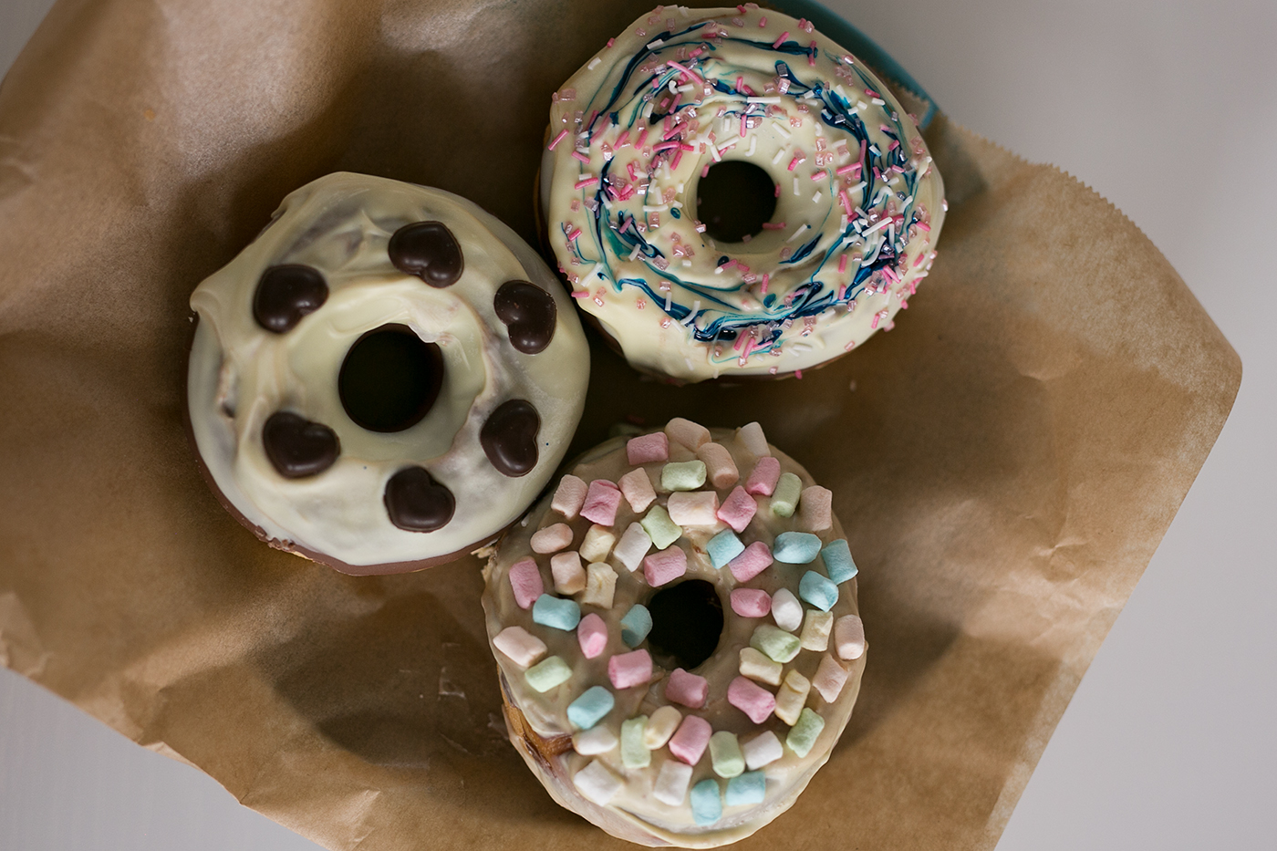 Selbstgemachte Donuts