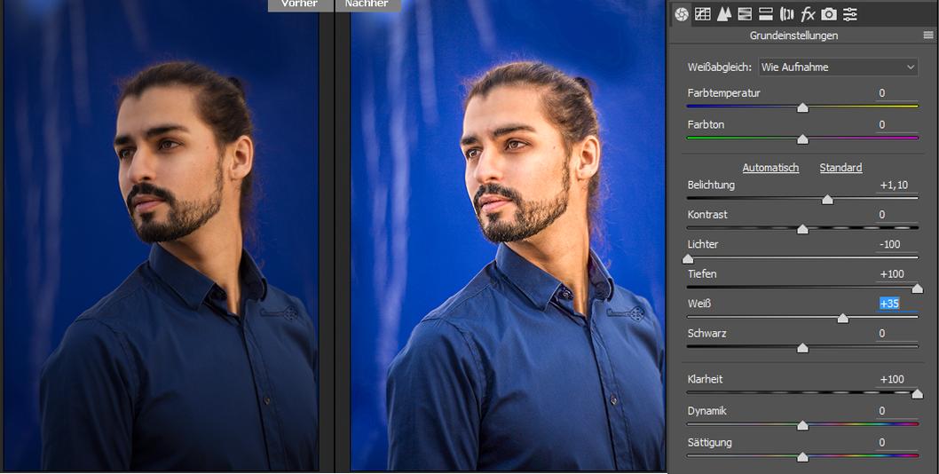 Camera Raw-Filter HDR Effekt