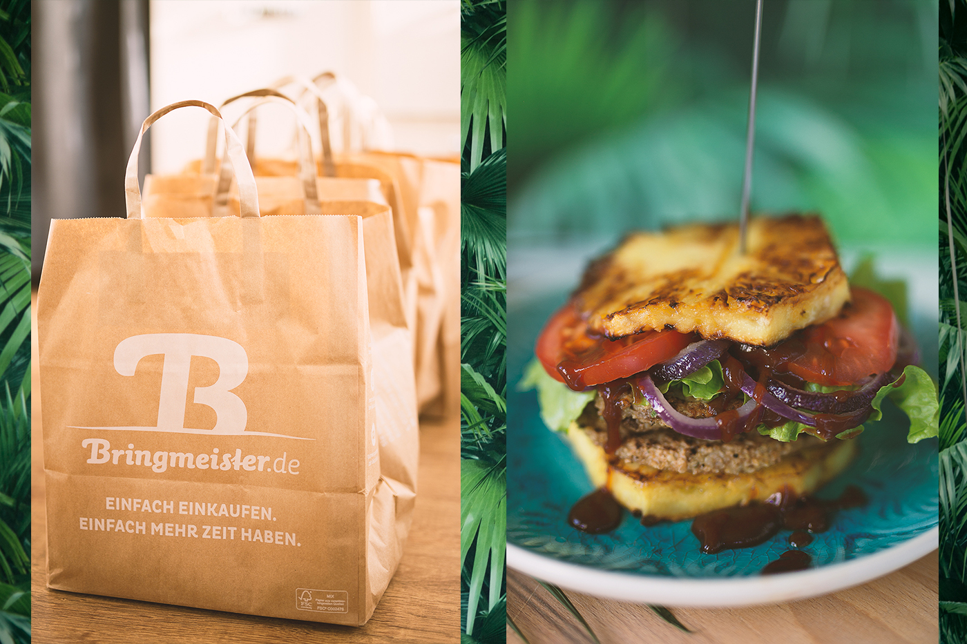 Ananas Burger mit Bringmeister