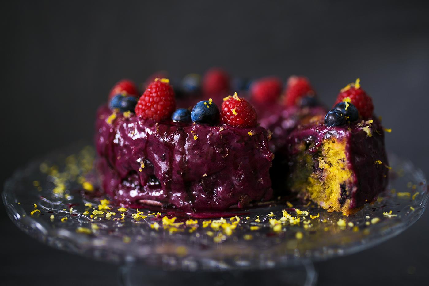 heidelbeer zitronen kuchen