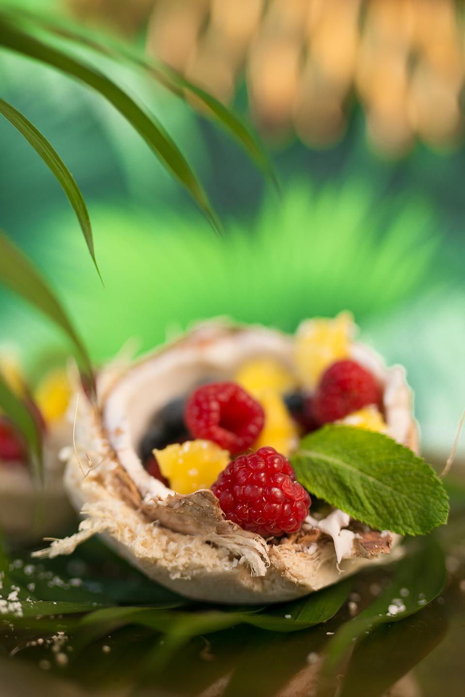 Gesundes Kokosnuss Dessert