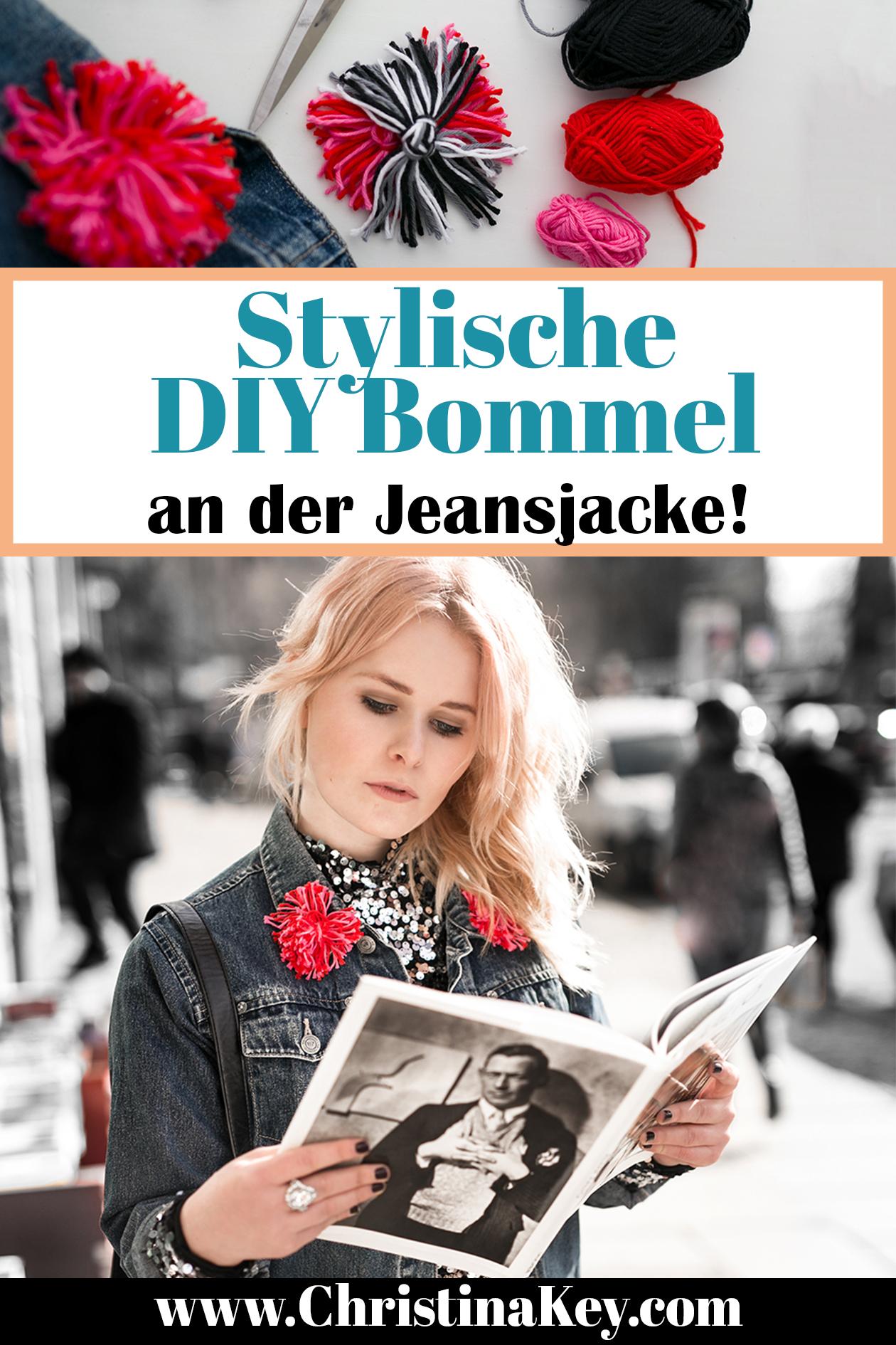 DIY Bommel Jeansjacke Tutorial