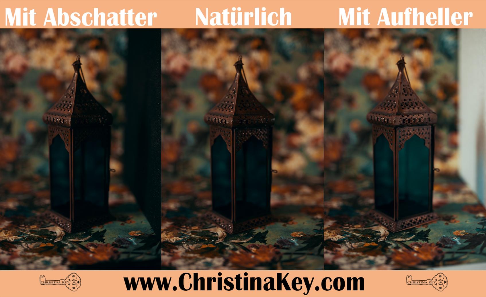 Abschatter Aufheller natürliches Licht Vergleich
