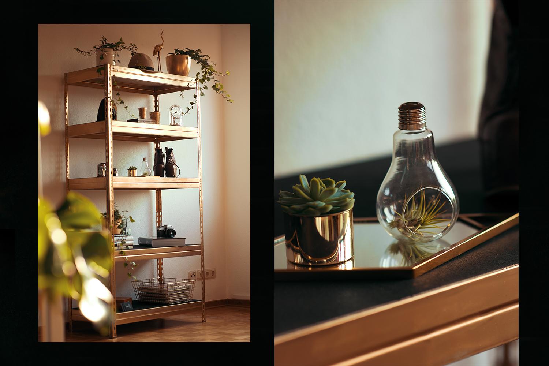 DIY Low Budget Designer Regal gold