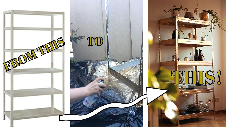 DIY Regal Gold Lackieren