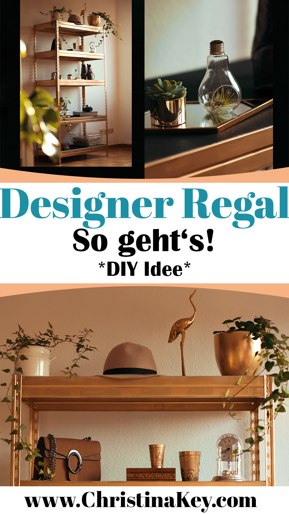 Designer Regal DIY Idee Gold