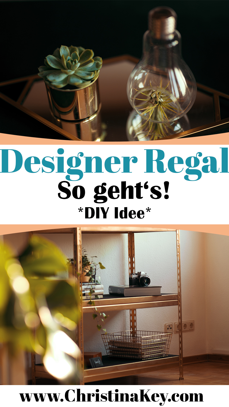 Designer Regal in Gold selbermachen DIY