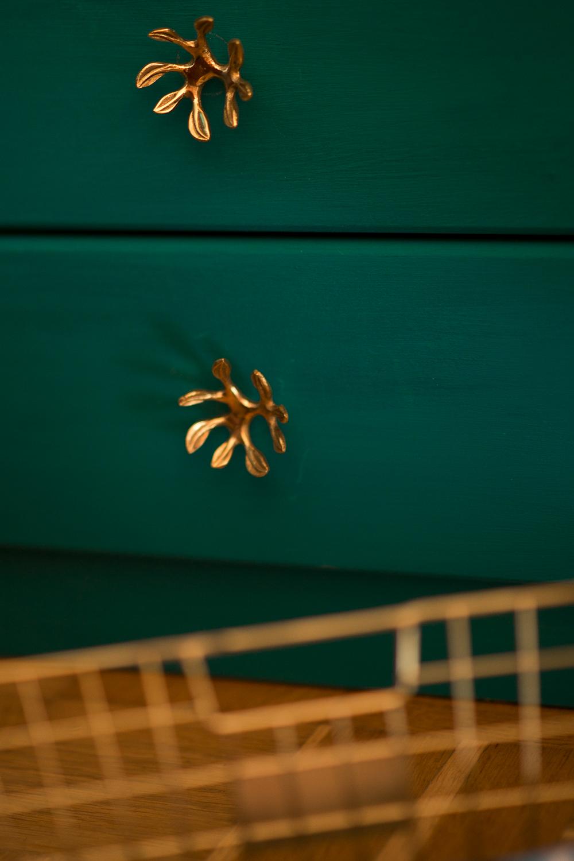 Goldene Details Wohnungsupdate