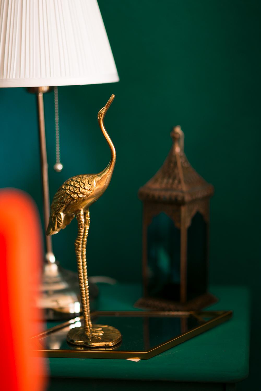 Goldene Kranich Figur