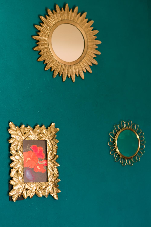 Goldene Spiegel Bilderrahmen