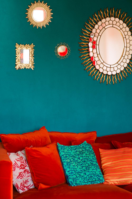Samt Couch orange