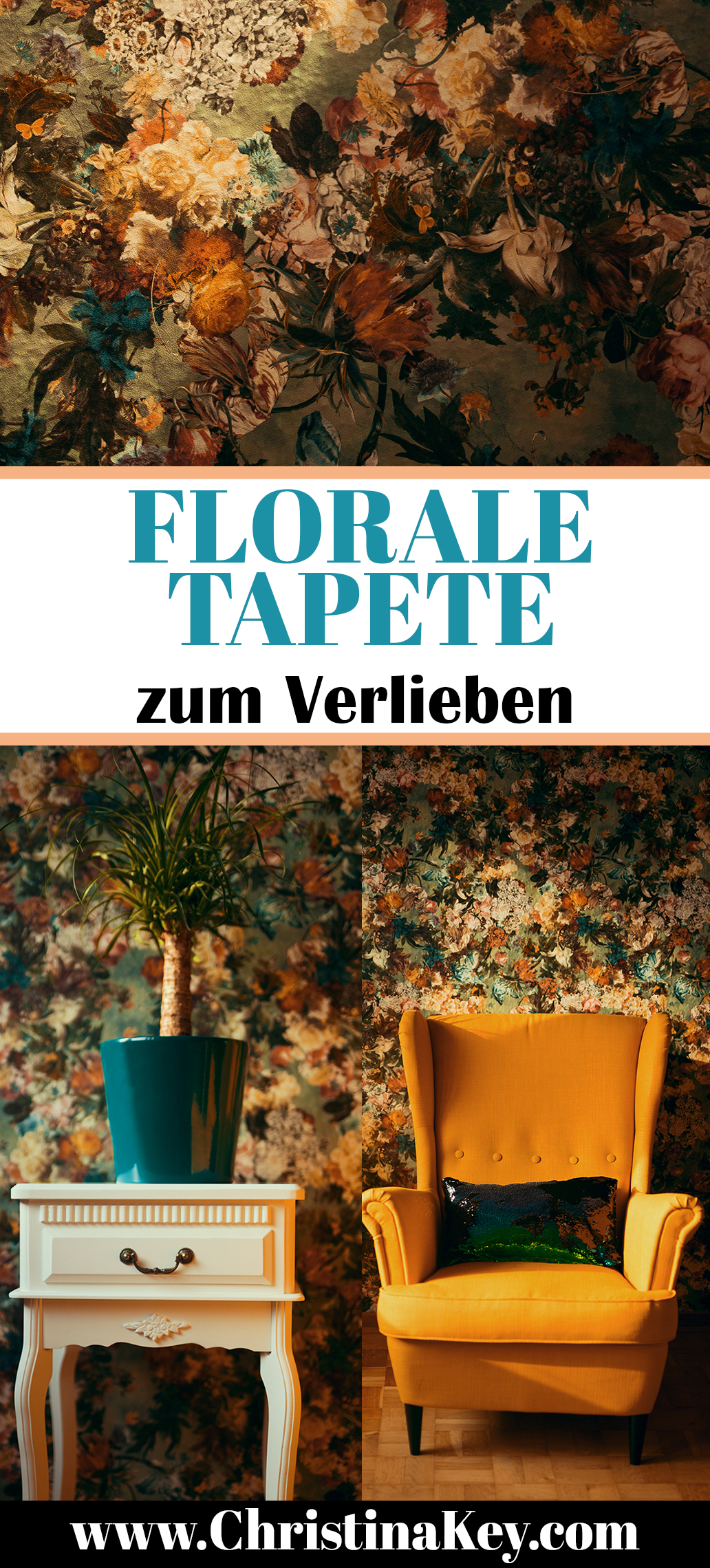 Tapete Florales Muster