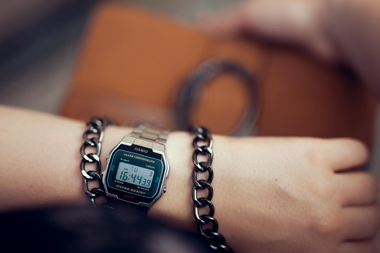 Uhr Casio Silber