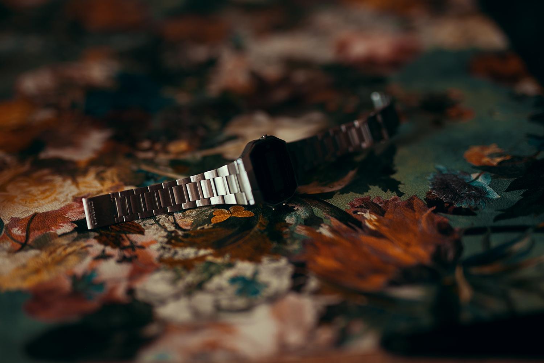 Uhr fotografiert mit Abschatter