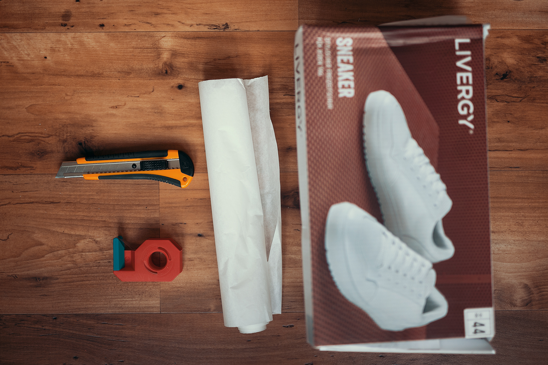 Vorbereitung DIY Hintergrund System Lightbox