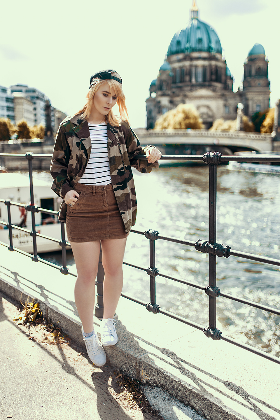 Army Jacke Cord Rock Outfit