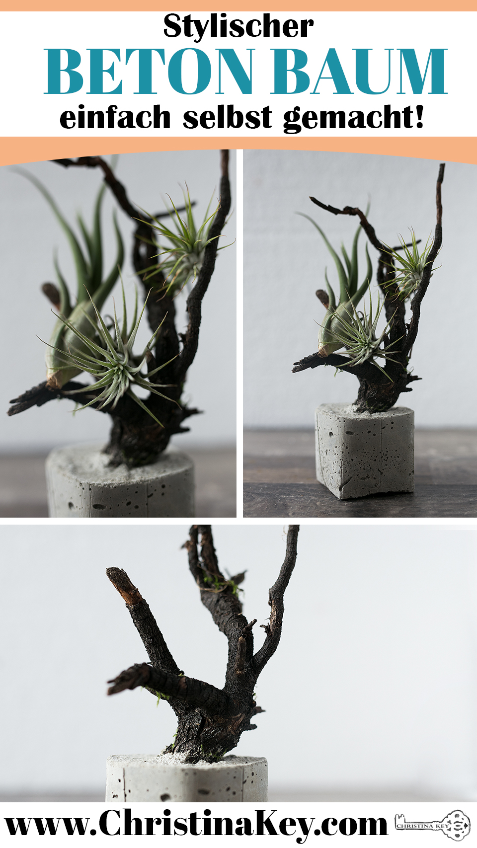 Beton Baum DIY Idee