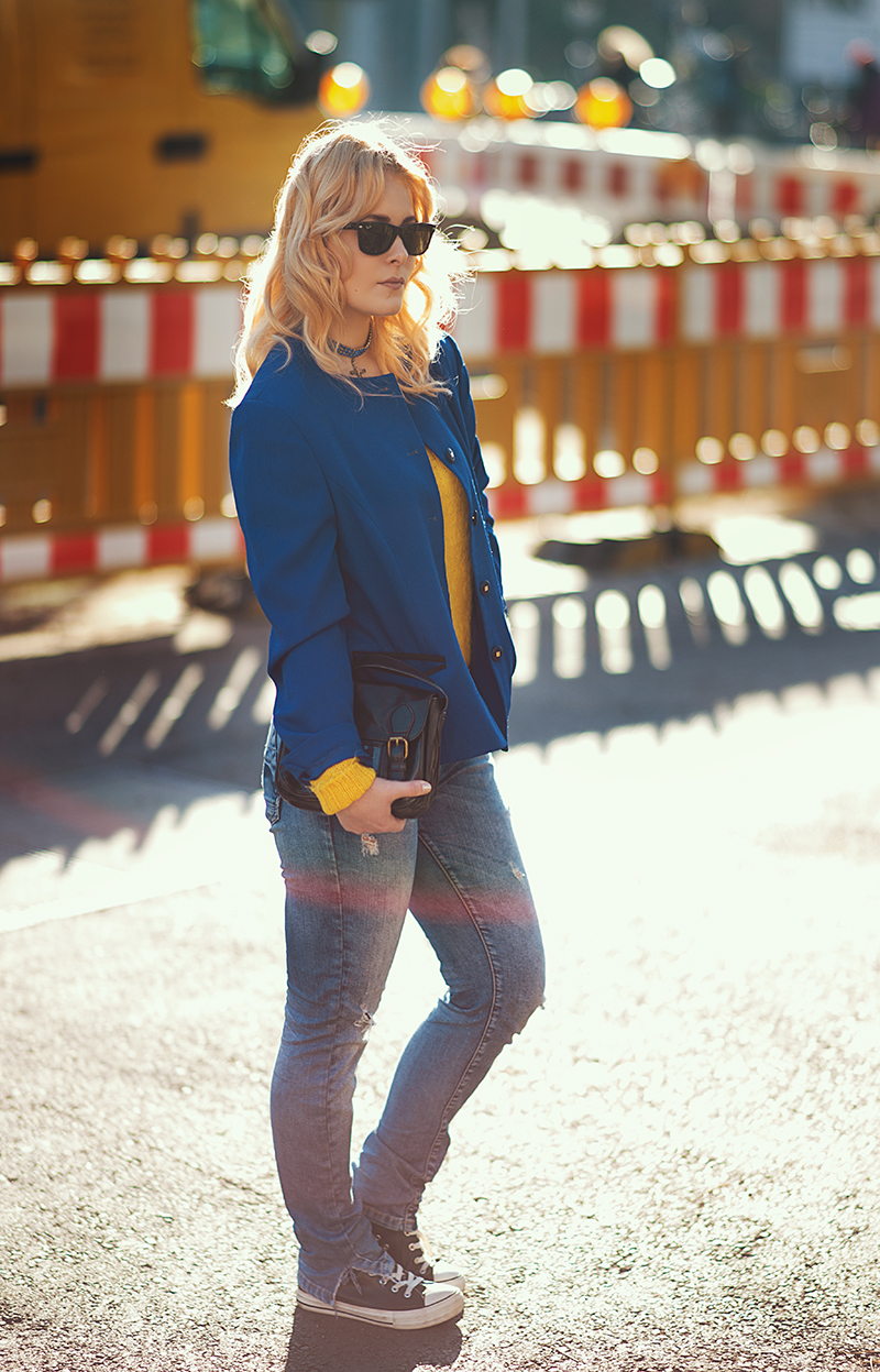 Blazer Jeans Herbst Look