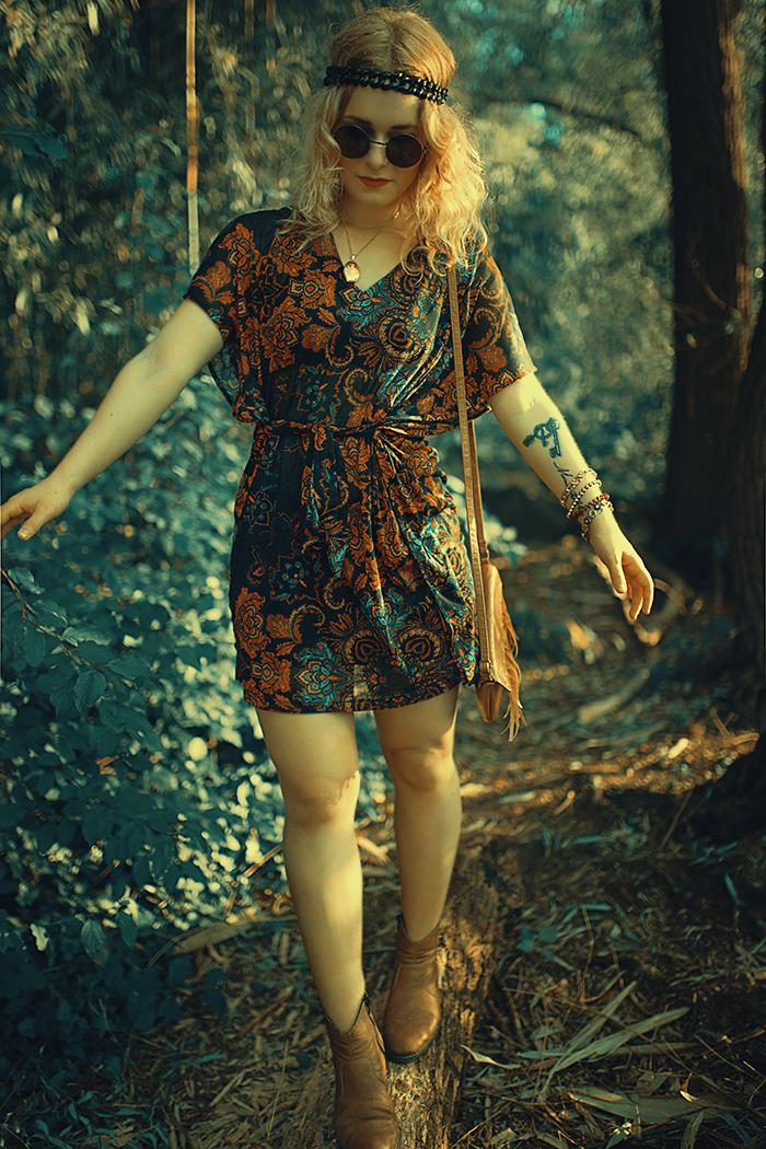 Boho Kleid 70er Style