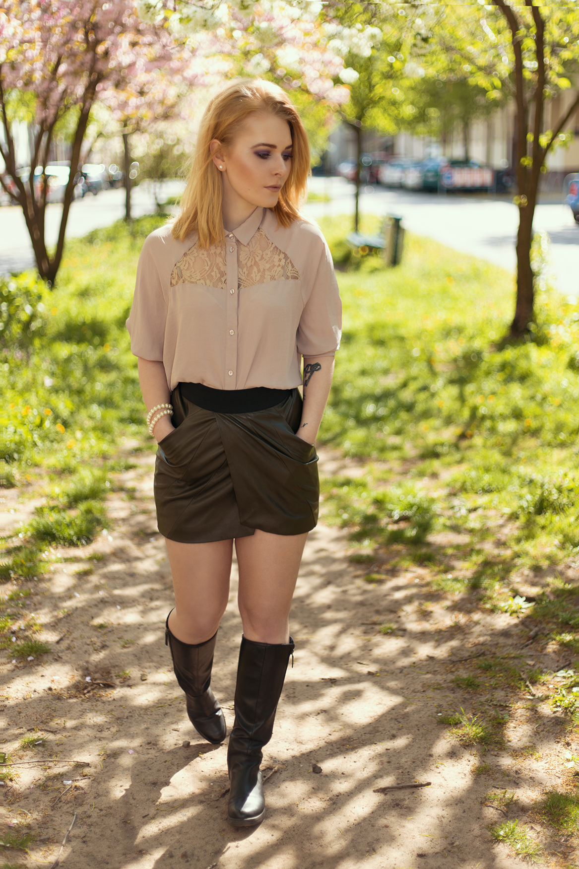 Outfit Mini Rock Bluse