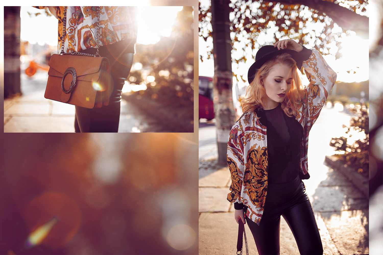 Vintage Bomberjacke, Hut & Chucks - Herbst Outfit