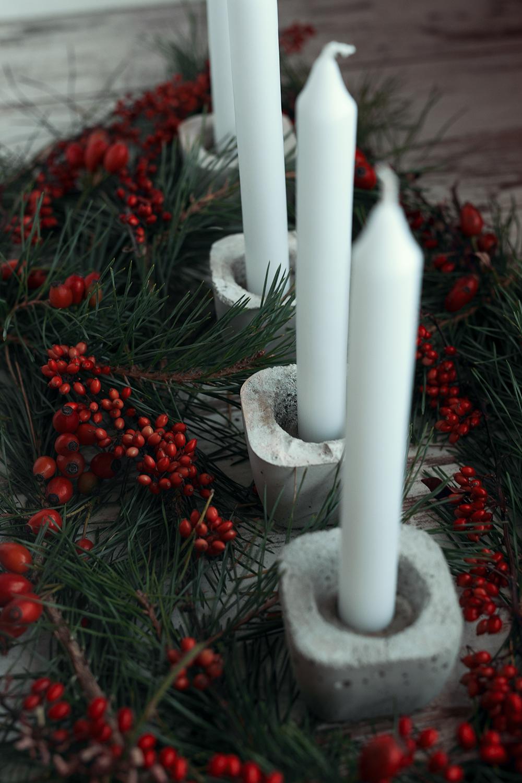 Adventskranz Mit Diy Beton Kerzenhalter Fotografie Tipps Und Foto