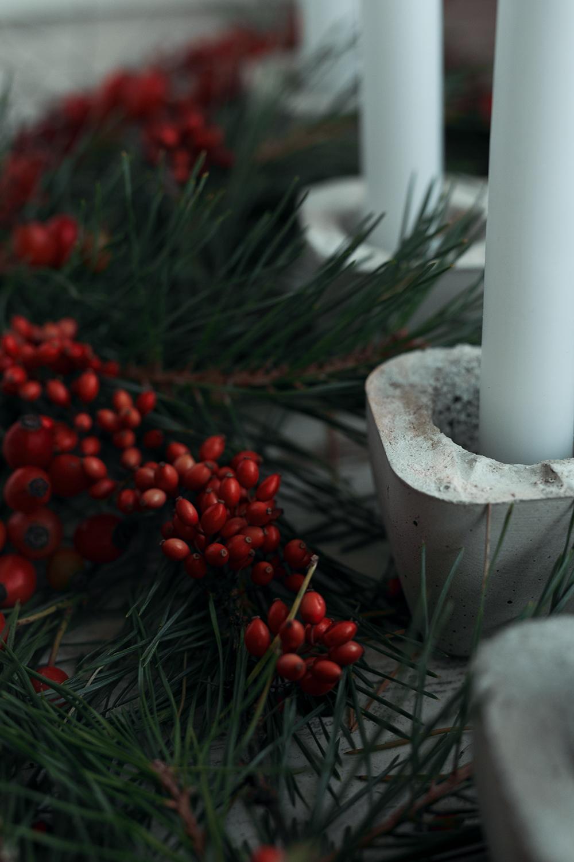 Adventskranz DIY Beton Kerzenhalter