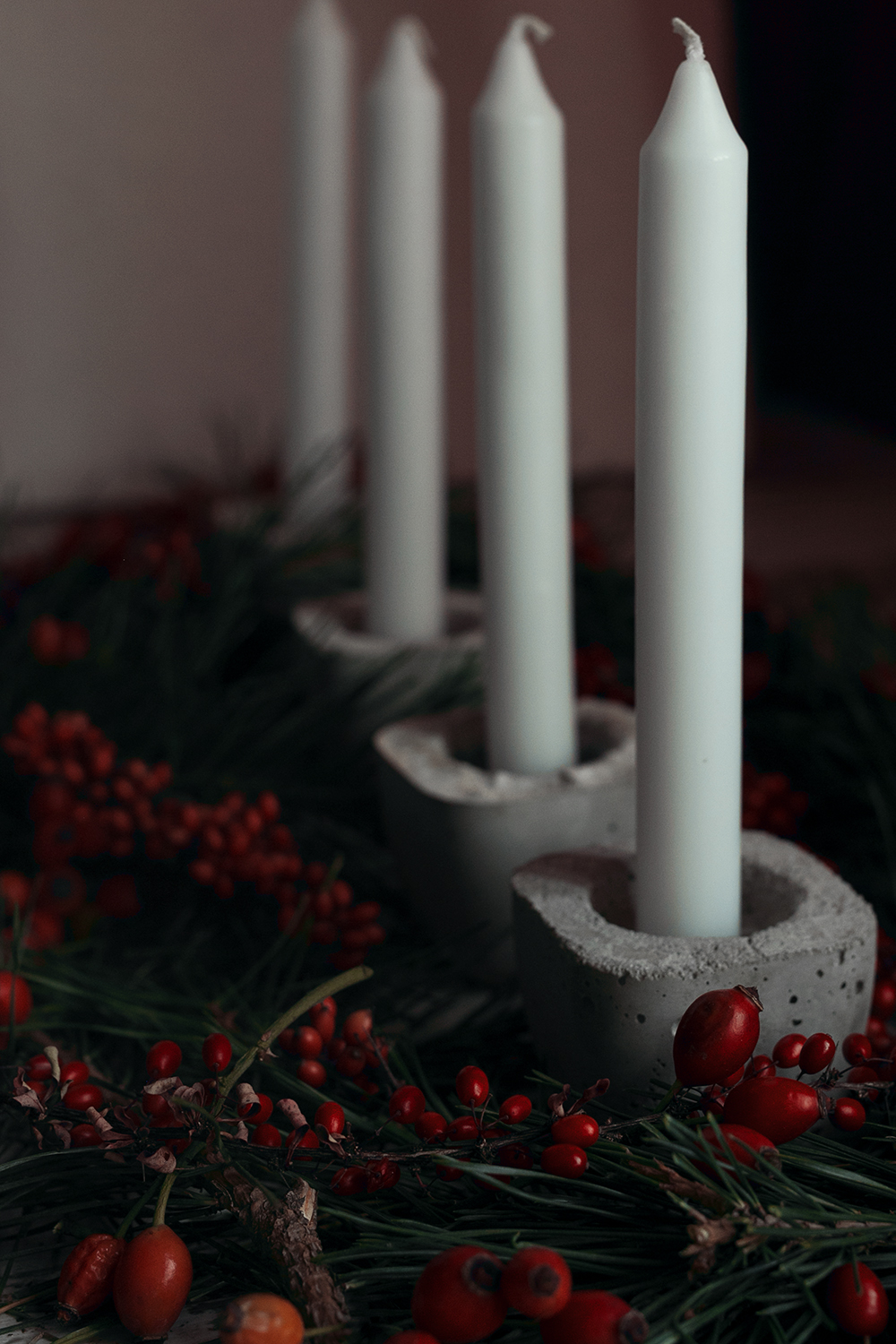 Beton Adventskranz
