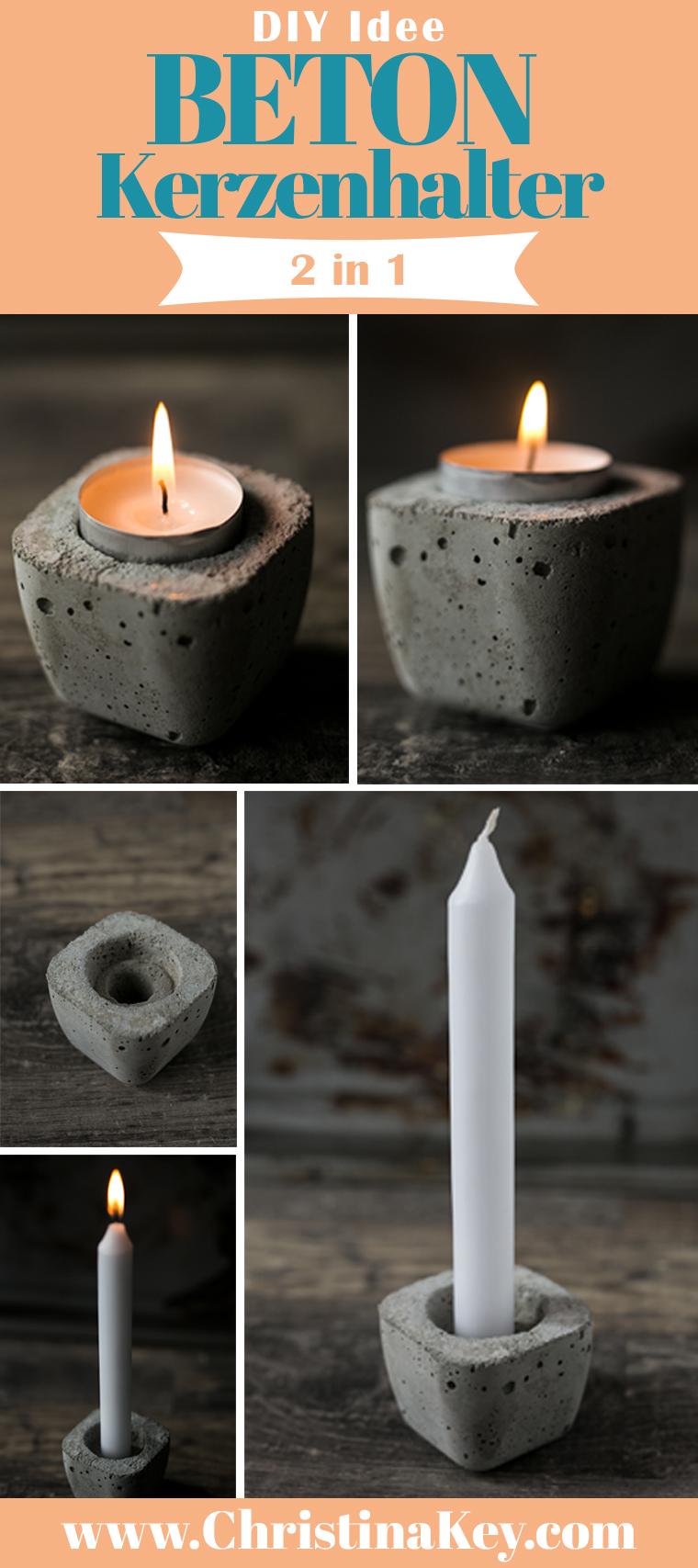 Beton DIY Kerzenhalter