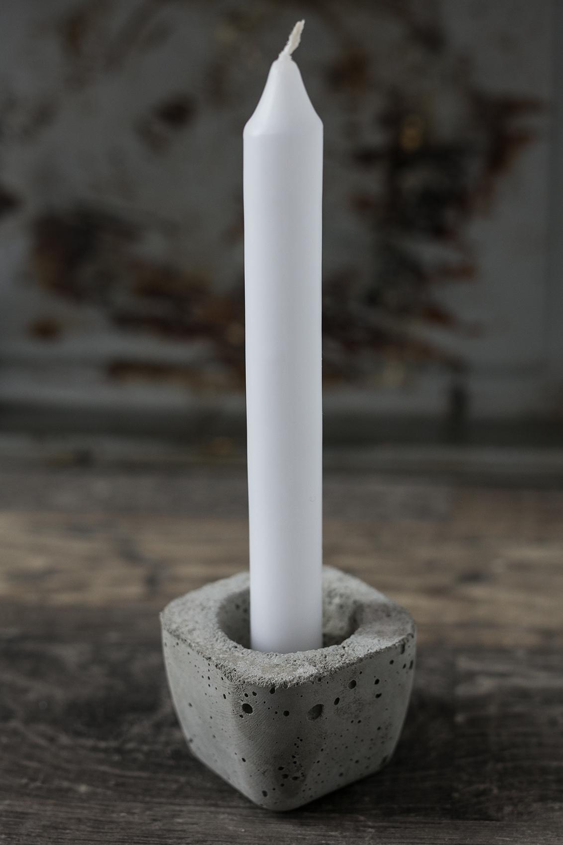 Beton Kerzenhalter für Stabkerzen