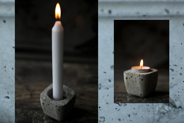 beton kerzenhalter f r teelichter stabkerzen kreative fotografie hacks foto tipps. Black Bedroom Furniture Sets. Home Design Ideas