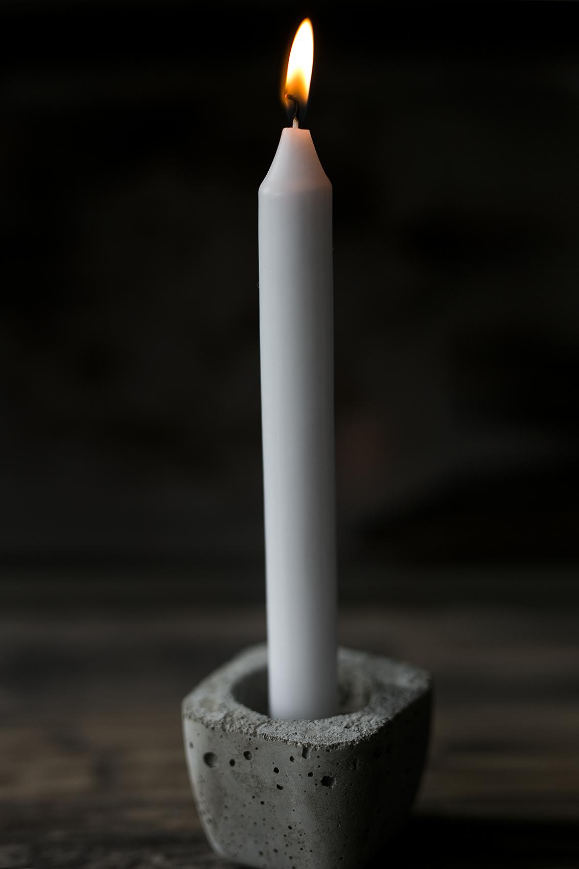Beton Kerzenhalter für Teelichter & Stabk
