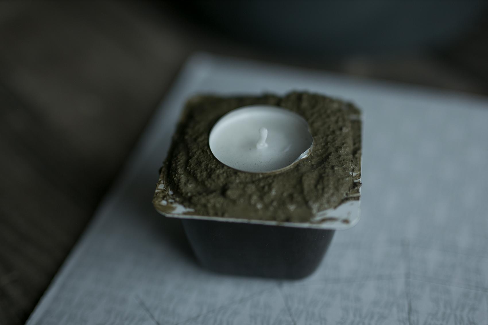 Beton trocknen lassen für Kerzenhalter