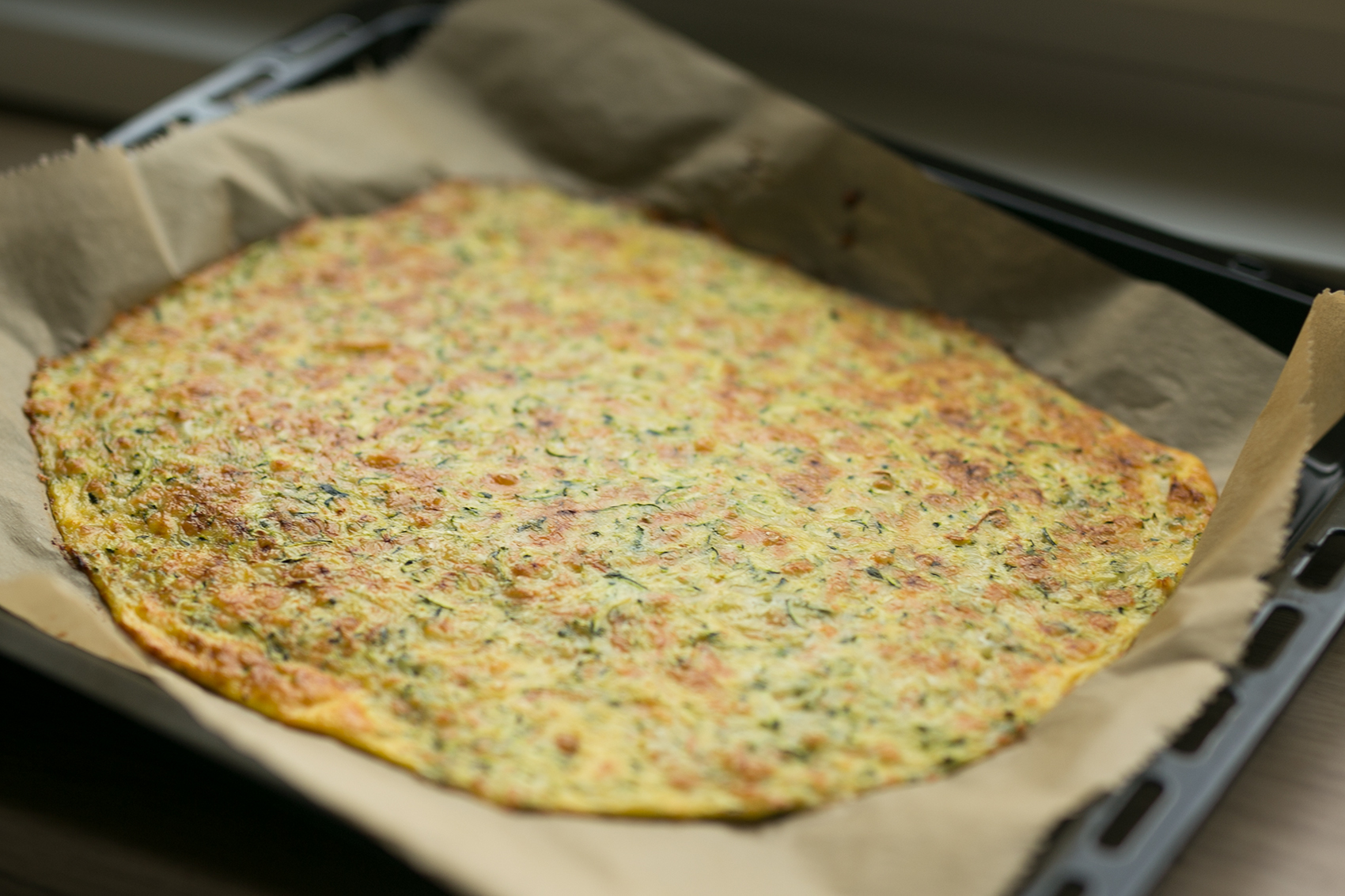 Fertiger Low Carb Boden Flammkuchen