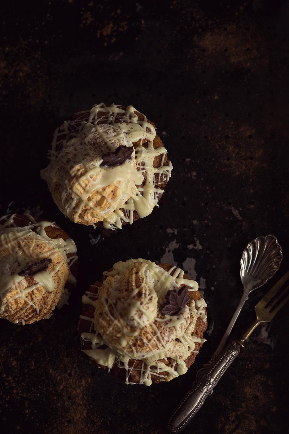 Kürbis Muffin Rezept mit Nüssen