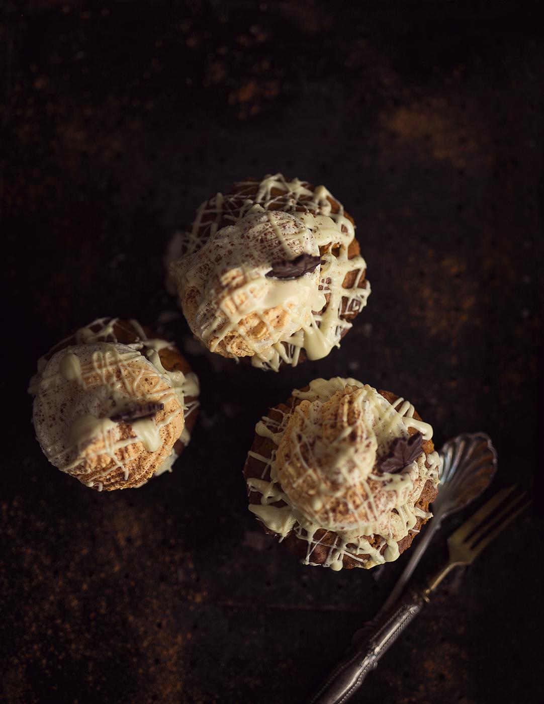 Muffin Rezept mit Kürbis und weißer Schokolade