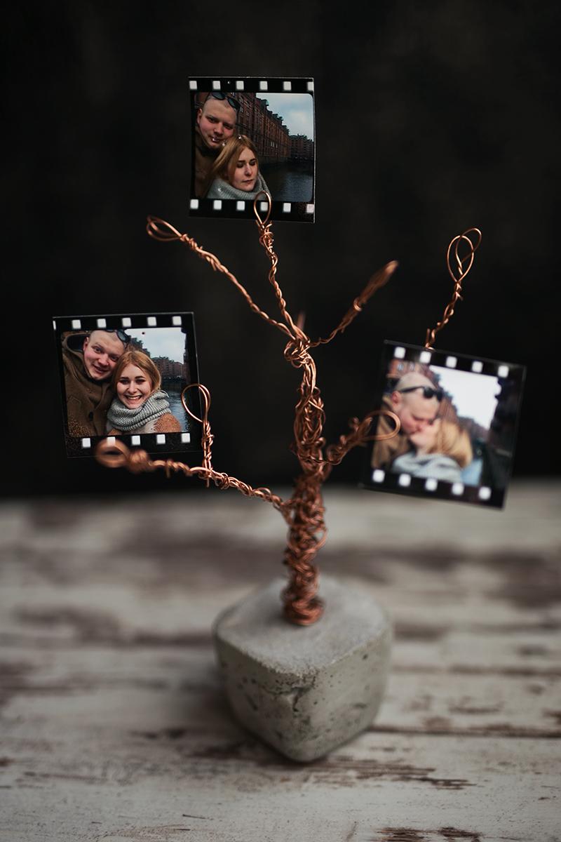 Beton Kupfer Draht Foto Baum