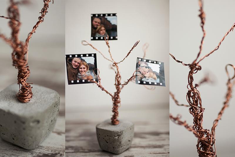 Beton Kupfer Foto Baum DIY Idee Foto