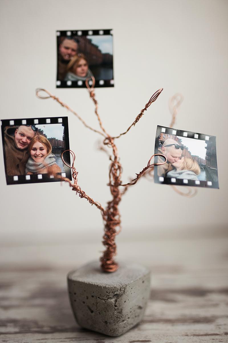 Beton Kupfer Foto Baum DIY