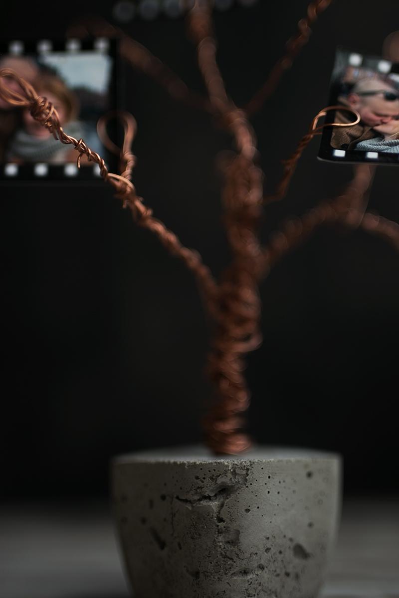 Beton Kupfer Foto Baum Geschenk Idee