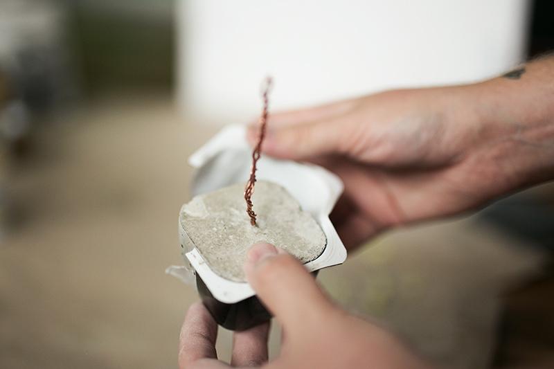 Beton Kupfer Foto Baum aus der Form nehmen