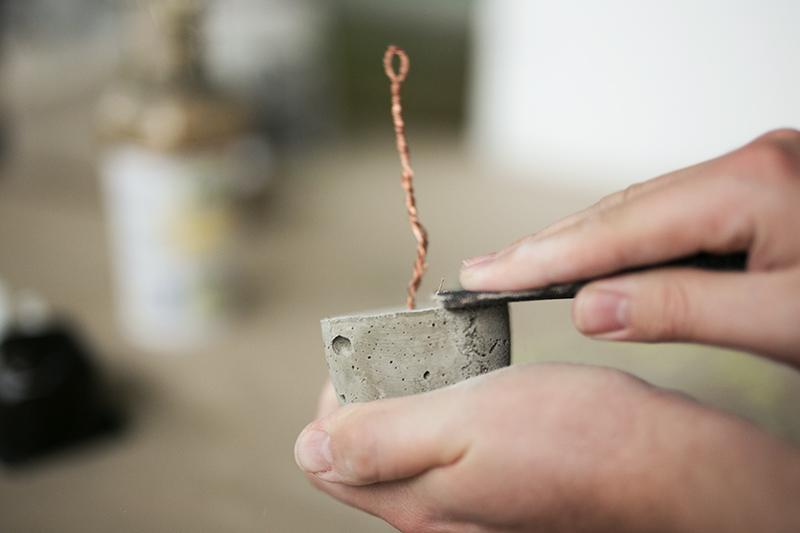 Beton abschleifen für Foto Kupfer Baum
