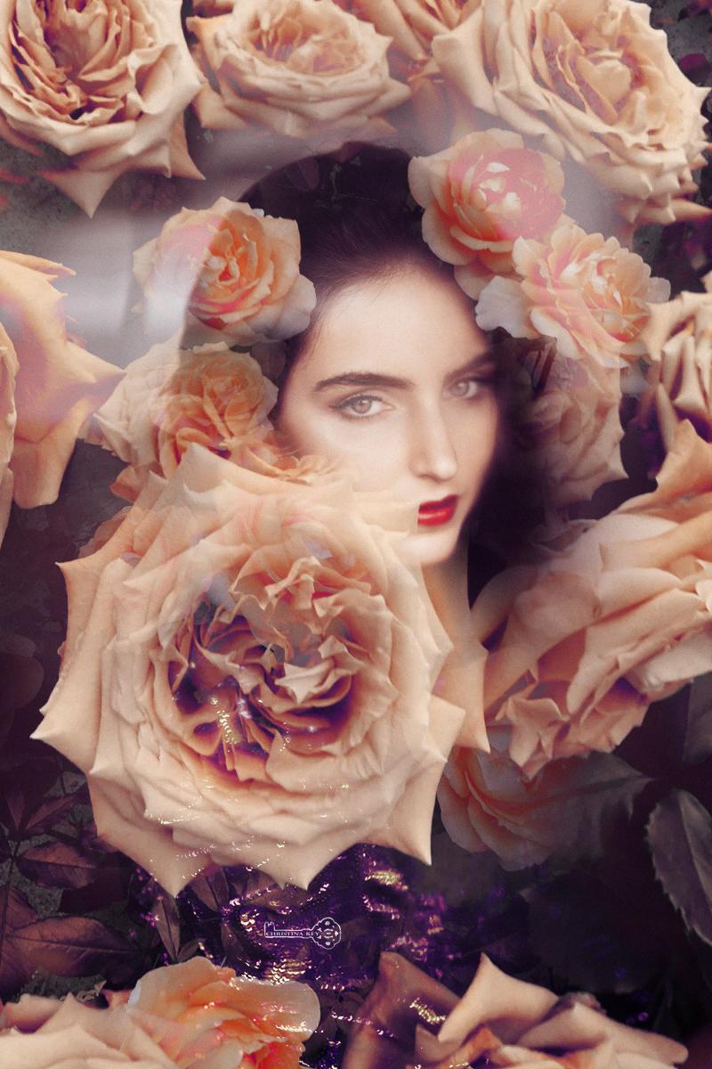 Doppelbelichtung Portrait Natalia Rosen Christina Key