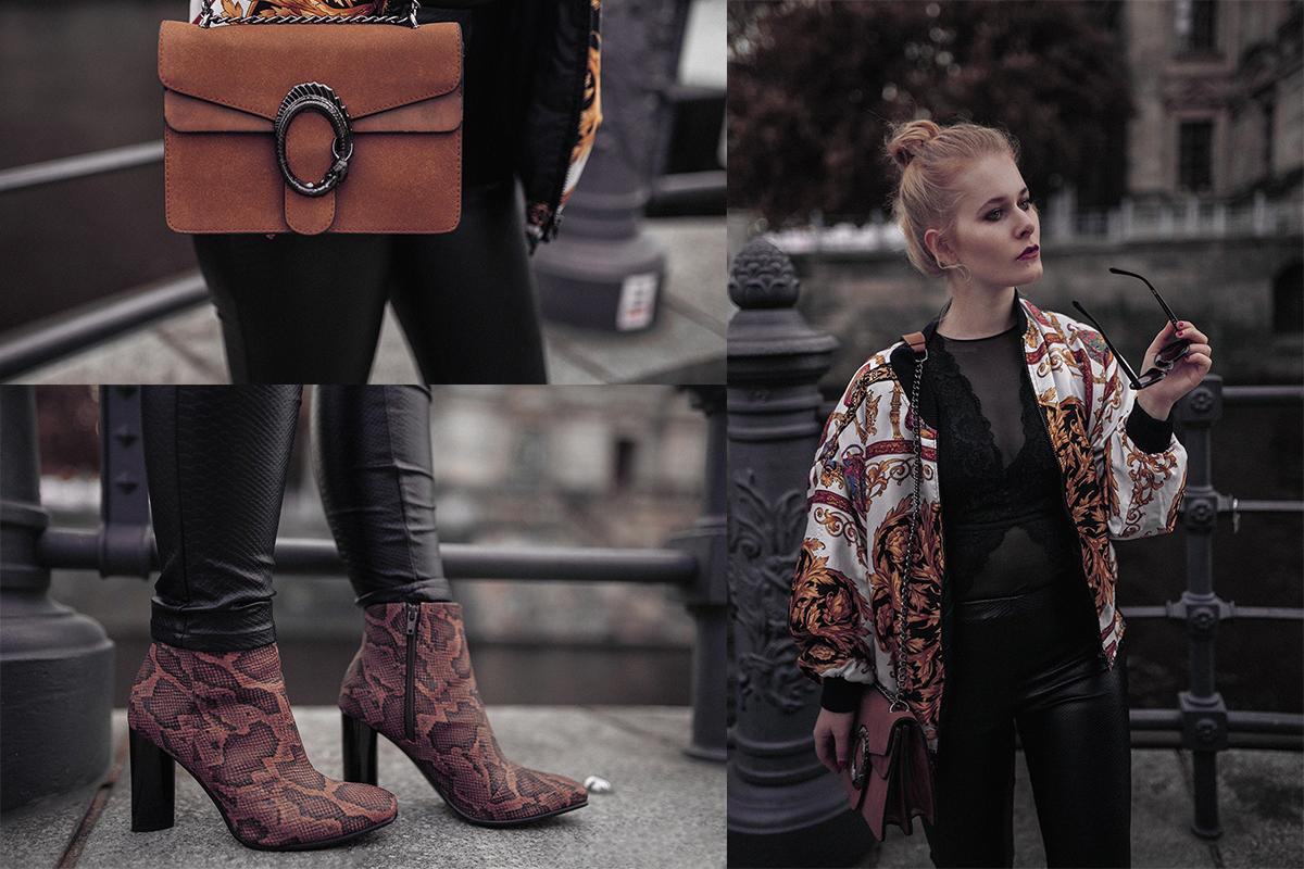 Lederhose Und Bomberjacke Outfit Fur Damen Kreative Fotografie