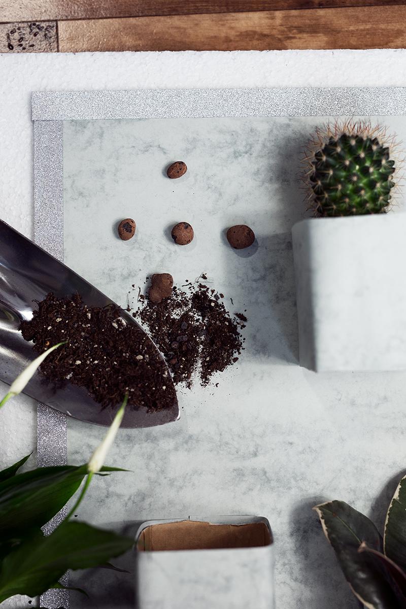 Vertikaler Garten DIY Low Budget Marmor Look